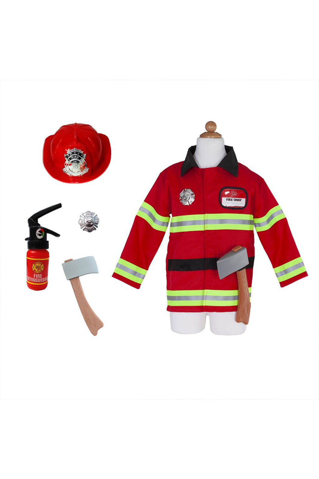 Great Pretenders  Firefighter Cosume With Accessories - Front Full Image