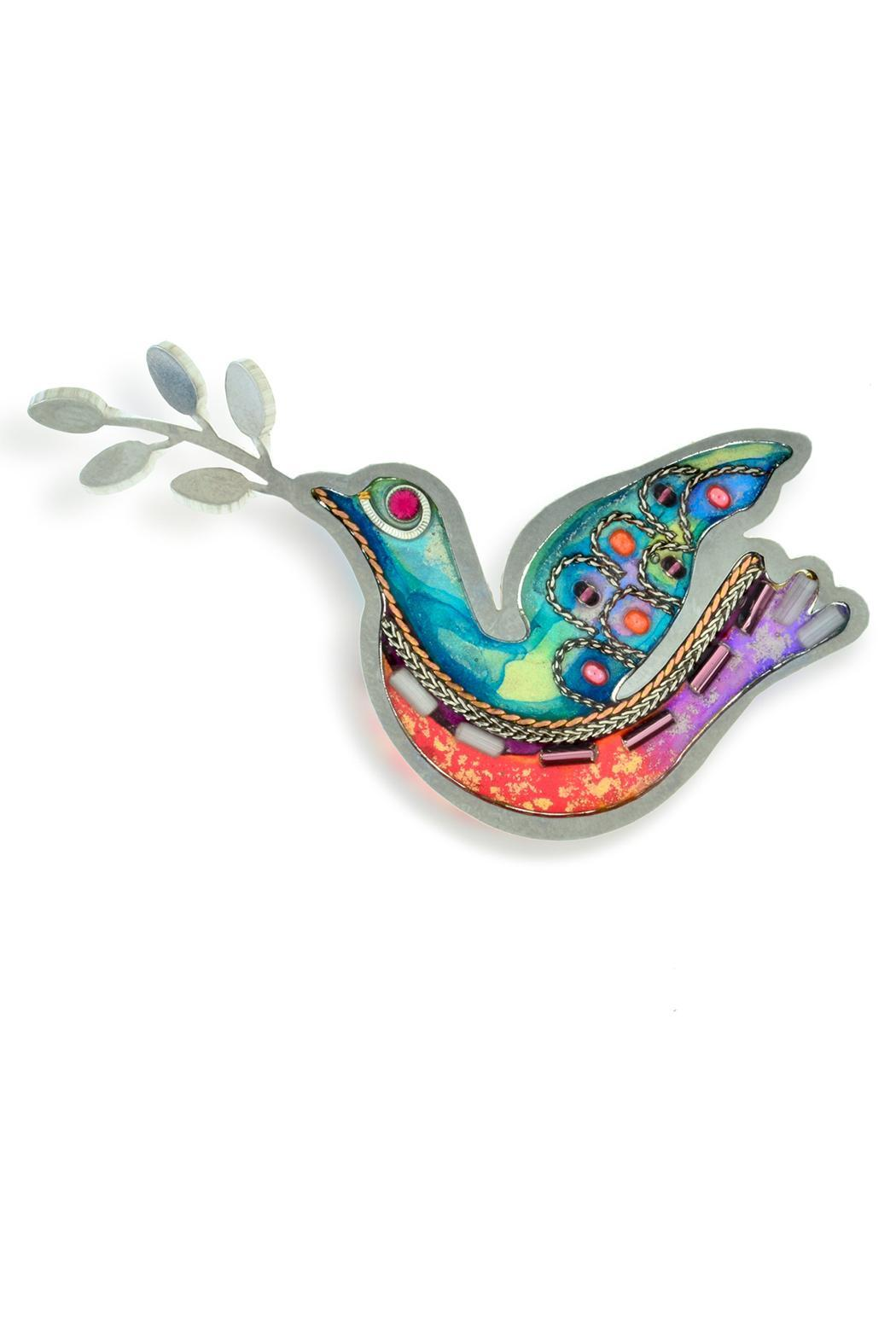Seeka Dove Art Pin - Front Cropped Image