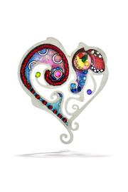 Seeka Heart Art Pin - Product Mini Image