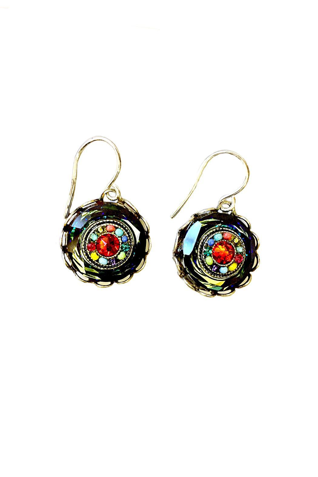 Firefly Jewelry Multicolor Button Earrings - Main Image