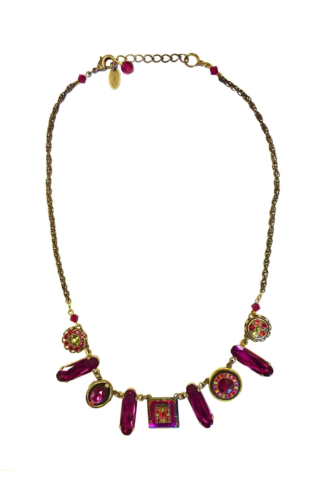 Firefly Jewelry Necklace Ruby - Front Cropped Image