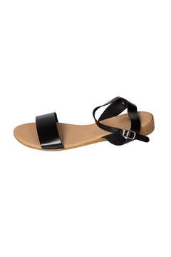 Firenze Black Leather Sandal - Alternate List Image