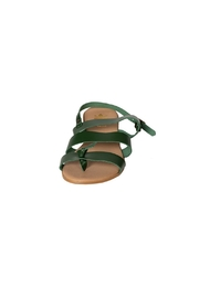 Firenze Green Leather Sandal - Side cropped