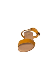 Firenze Mustard Leather Sandal - Side cropped