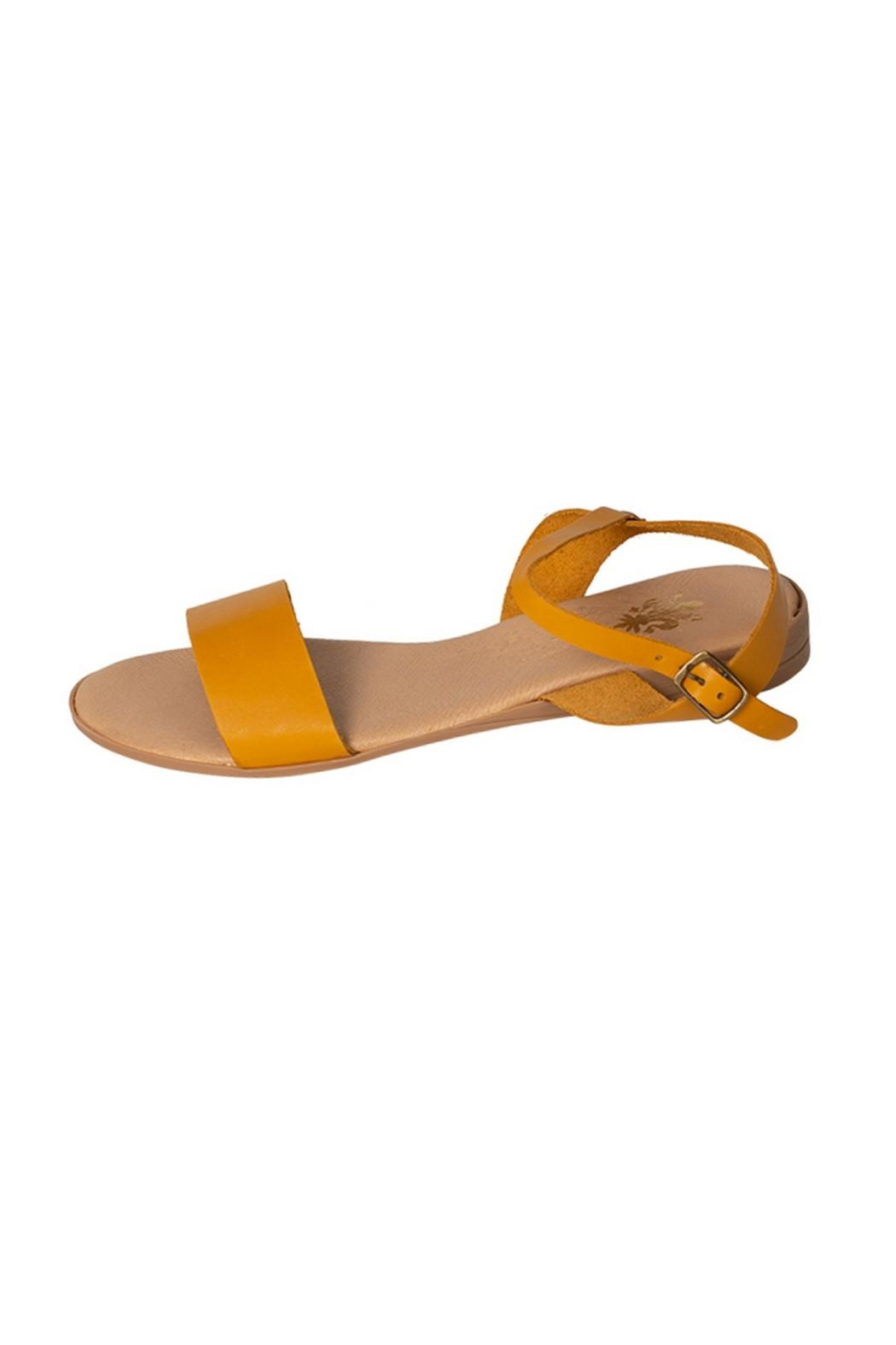 Firenze Mustard Leather Sandal - Main Image