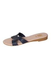 Firenze Navy Leather H-Slides - Product Mini Image