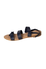 Firenze Navy Leather Sandal - Front cropped