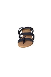 Firenze Navy Leather Sandal - Side cropped