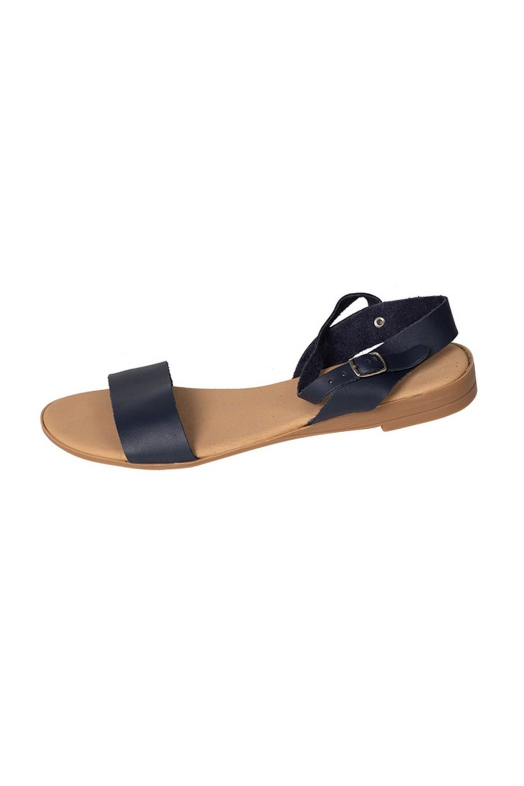 Firenze Navy Leather Sandal - Main Image
