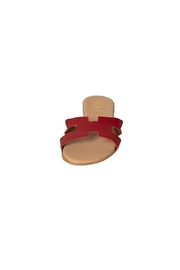Firenze Red Leather H-Slides - Side cropped