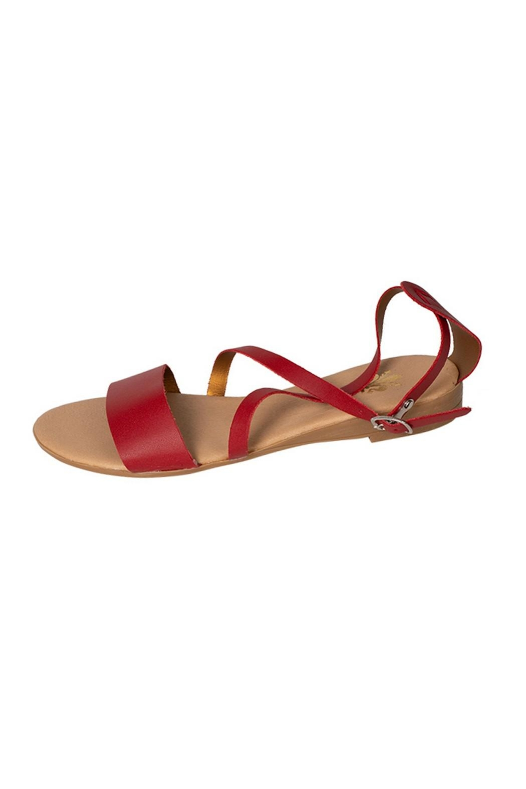 Firenze Red Leather Sandal - Main Image