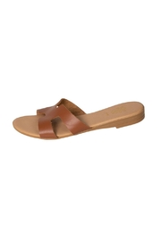 Firenze Tan Leather H-Slide - Product Mini Image