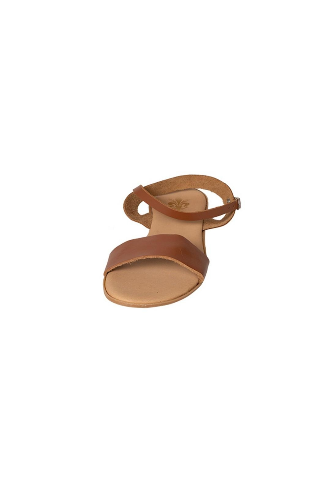 Firenze Tan Leather Sandal - Side Cropped Image
