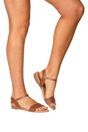 Firenze Tan Leather Sandal - Back cropped