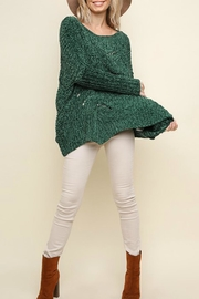 Umgee USA Fireside Chenille Sweater - Front cropped