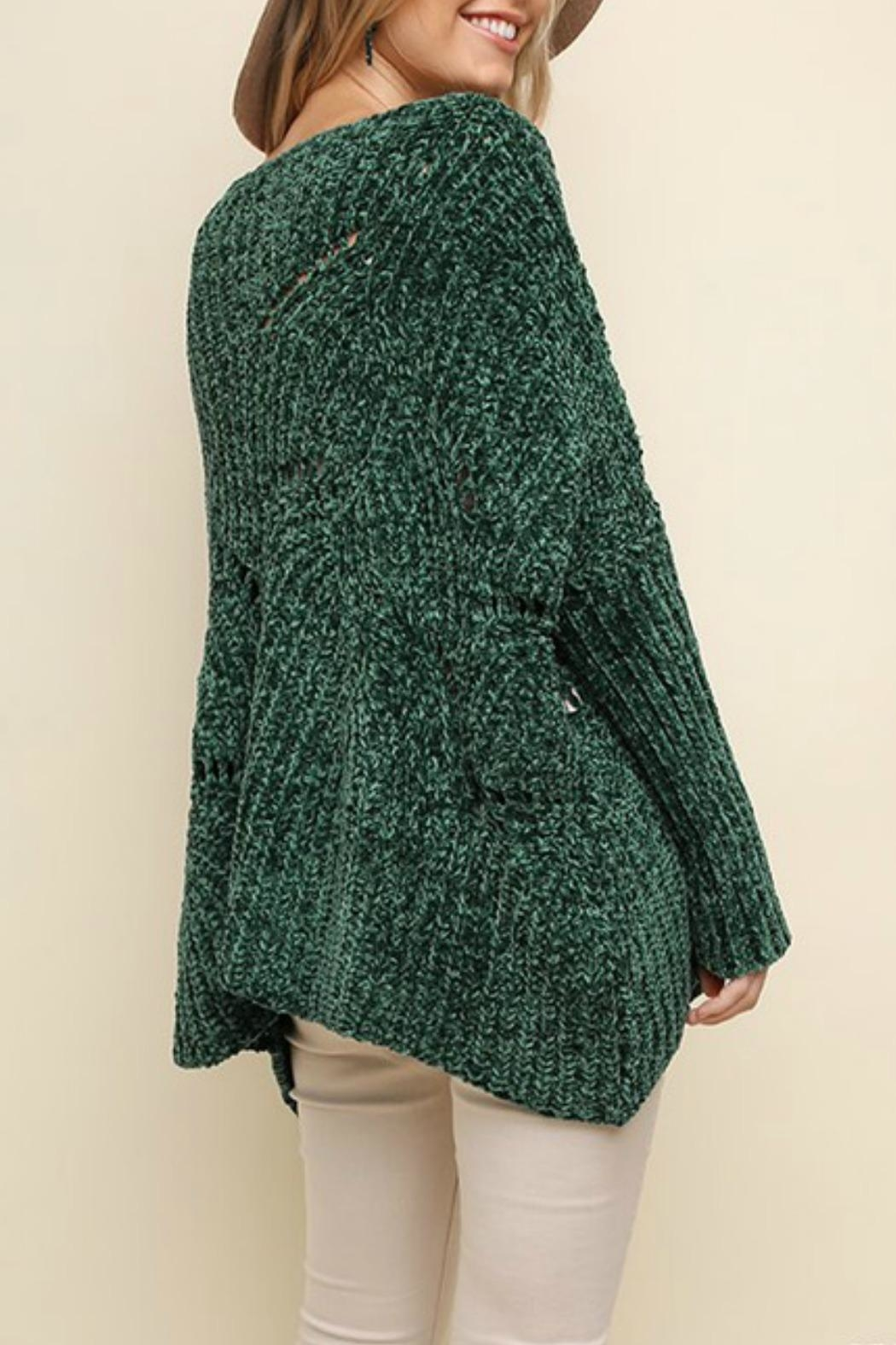 Umgee USA Fireside Chenille Sweater - Back Cropped Image