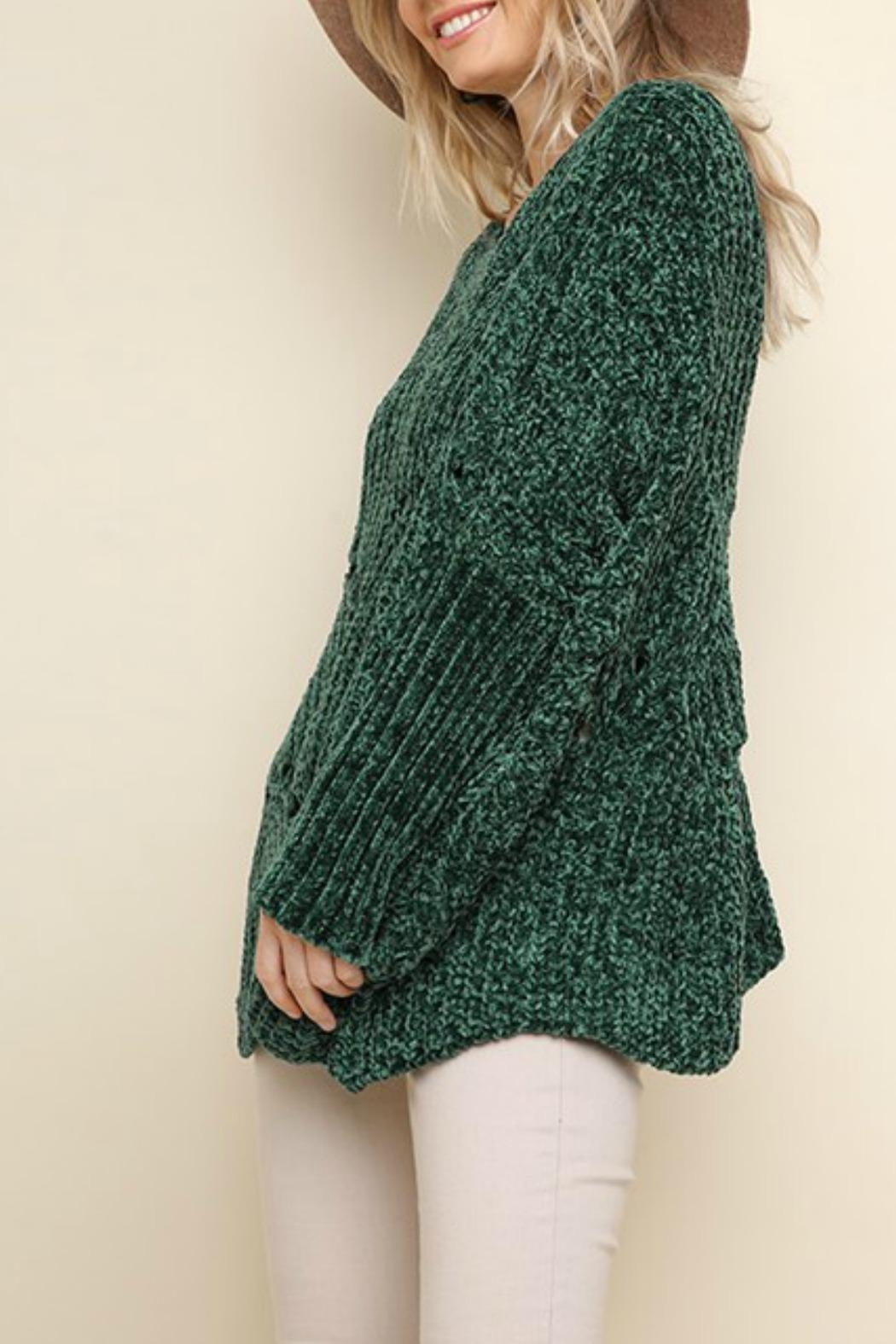 Umgee USA Fireside Chenille Sweater - Side Cropped Image