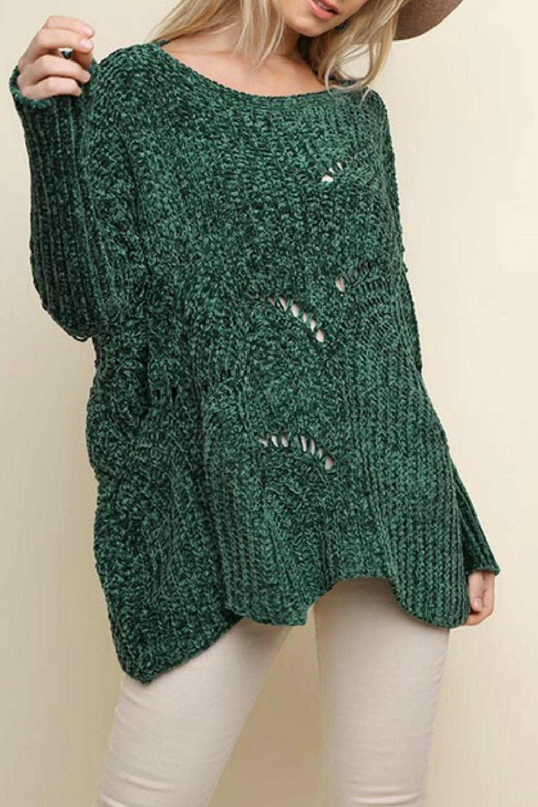 Umgee USA Fireside Chenille Sweater - Front Full Image