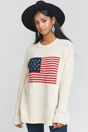 Show Me Your Mumu Fireside Sweater Americanflag - Product Mini Image