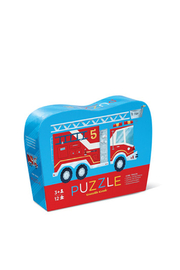 Crocodile Creek Firetruck 12 Piece Puzzle - Product Mini Image