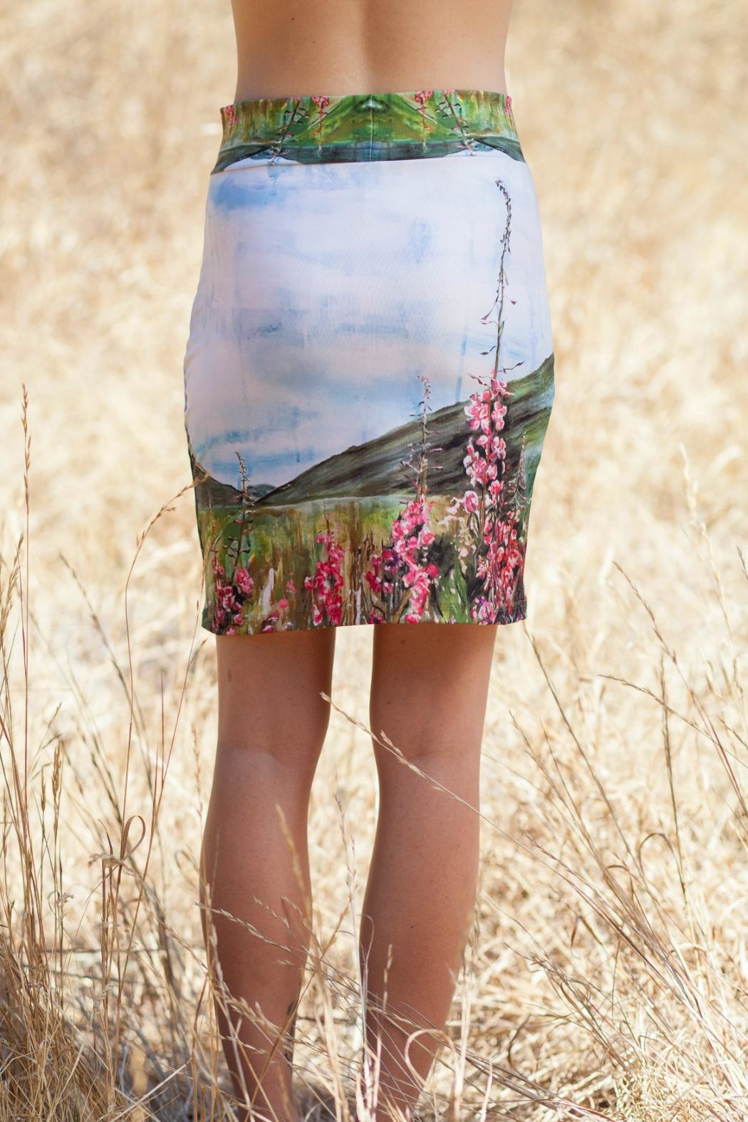 Heidi Fireweed Pencil Skirt - Side Cropped Image