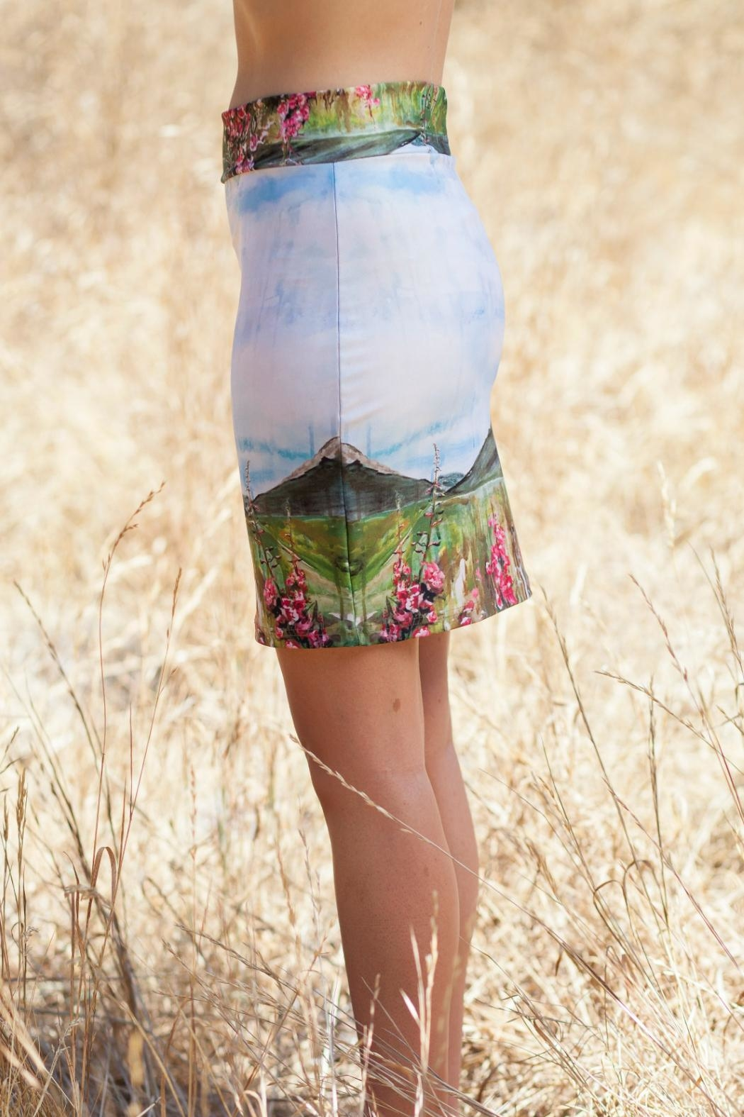 Heidi Fireweed Pencil Skirt - Front Full Image