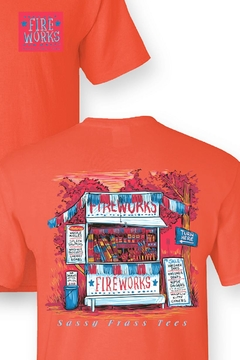 Sassy Frass Tees Fireworks T-Shirt - Alternate List Image