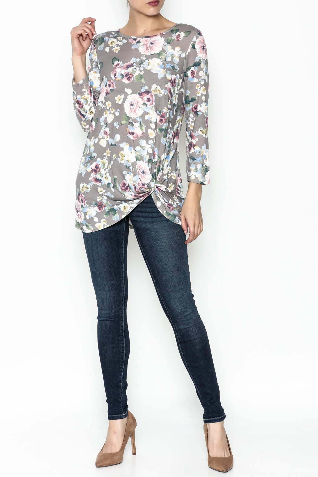 First Look Floral Tunic - Side Cropped Image