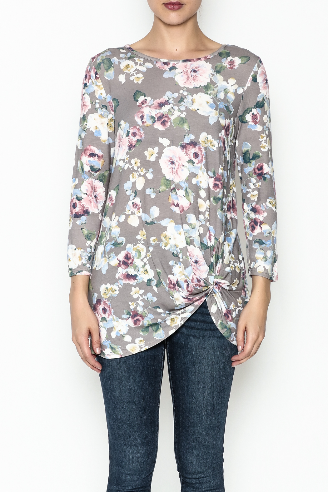 First Look Floral Tunic - Front Full Image