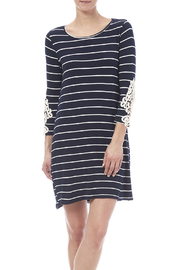 First Look Navy Striped Dress - Product Mini Image