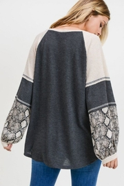 First Love Balloon Sleeve Top - Back cropped