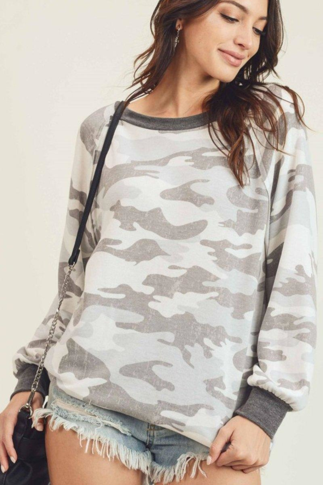 First Love Camo Vintage Top - Side Cropped Image