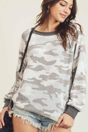 First Love Camo Vintage Top - Side cropped