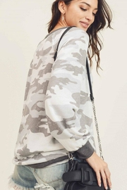 First Love Camo Vintage Top - Back cropped