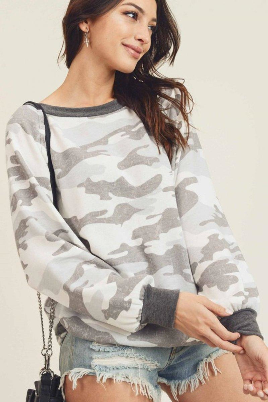 First Love Camo Vintage Top - Front Full Image