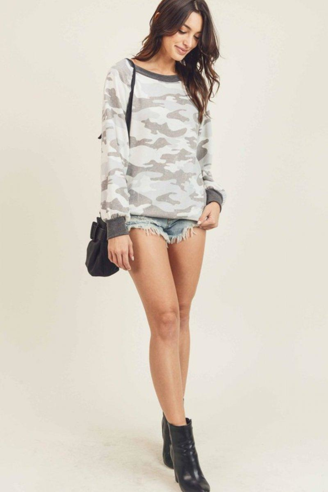 First Love Camo Vintage Top - Main Image