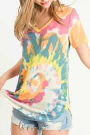 First Love Chasing Rainbows Tie-Dye Top - Product Mini Image