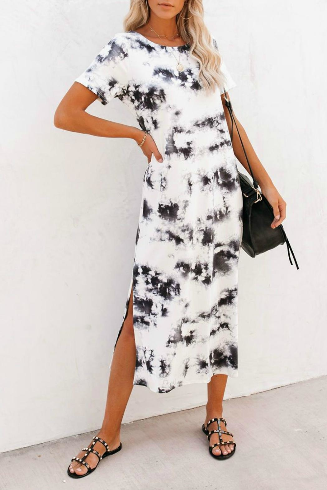 First Love Cheyenne Tie Dye Dress - Front Cropped Image