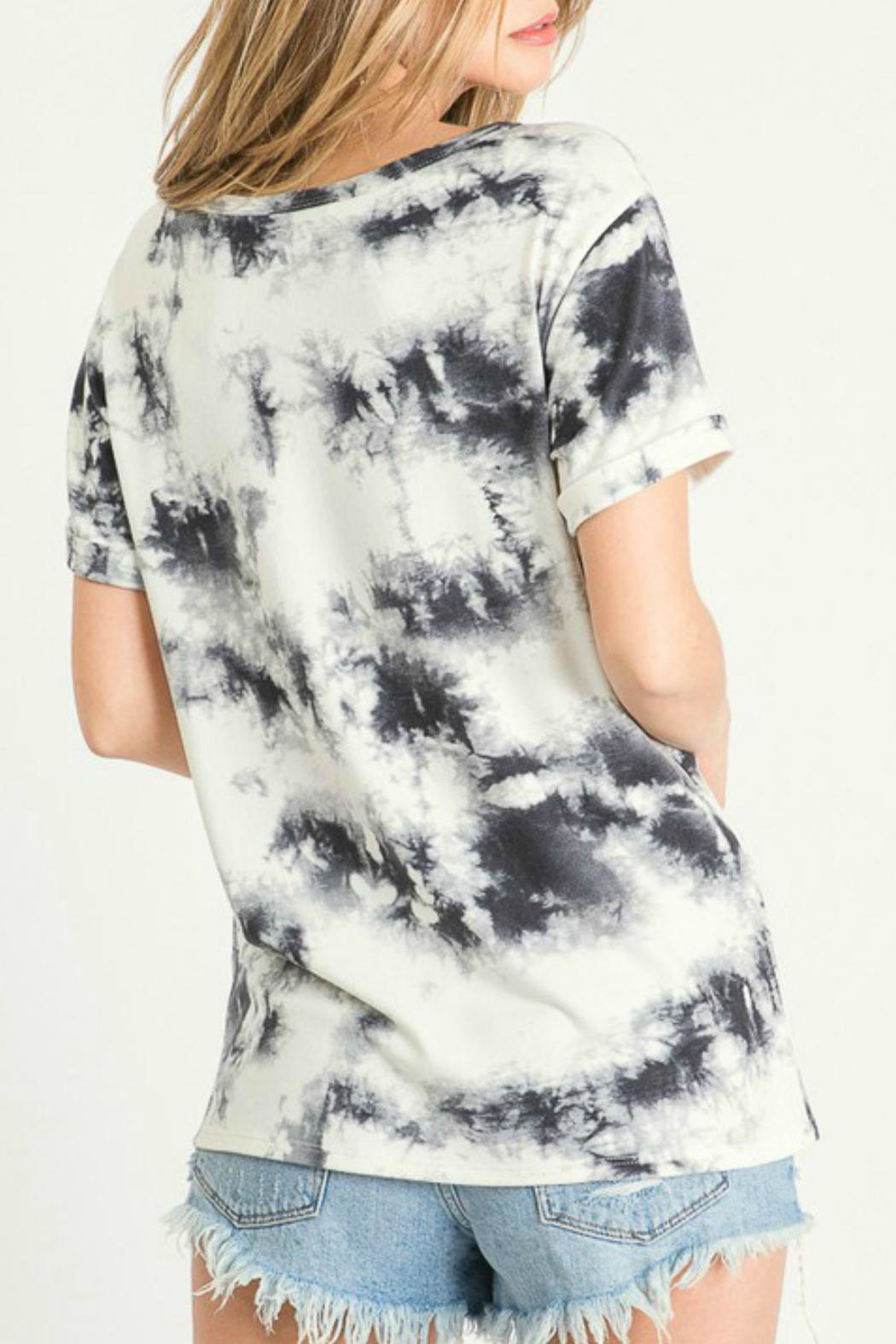 First Love Cheyenne Tie Dye Top - Back Cropped Image