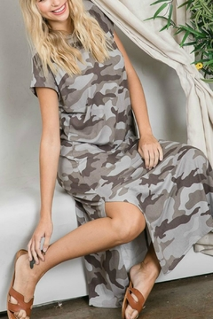 First Love Grey Camo Dress - Product List Image