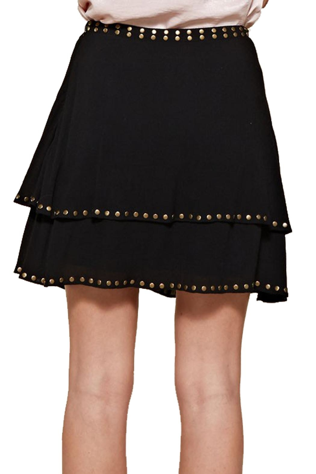 First Love Layered Grommet Skirt - Side Cropped Image