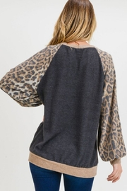 First Love Leopard Cashmere-Brushed Top - Other