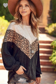 First Love Leopard Chevron Top - Product List Image