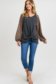 First Love Leopard Contrast Top - Other