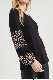 First Love Leopard Contrast Top - Side cropped