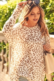 First Love Leopard Key-Hole Top - Front full body