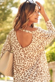 First Love Leopard Key-Hole Top - Back cropped