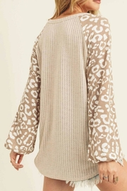 First Love Leopard Sleeve Top - Product Mini Image