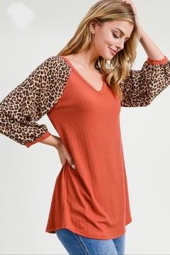 First Love Leopard Sleeve Top - Product List Image