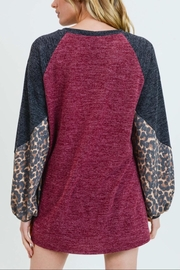 First Love Mohair-Leopard Top - Back cropped
